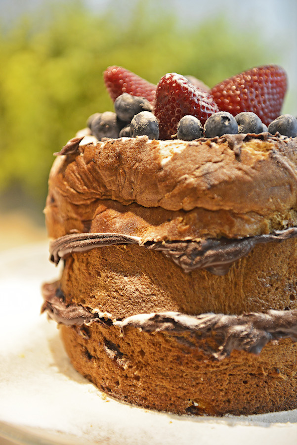 Chocotone Naked Cake