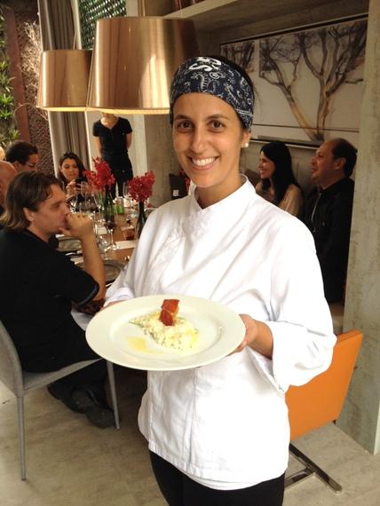 A Chef Carina Cecchino Duarte. Foto Senhora Mesa. Todos os direitos reservados.