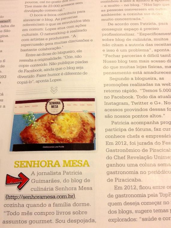 Blog Senhora Mesa é Destaque na Revista Nacional Locaweb