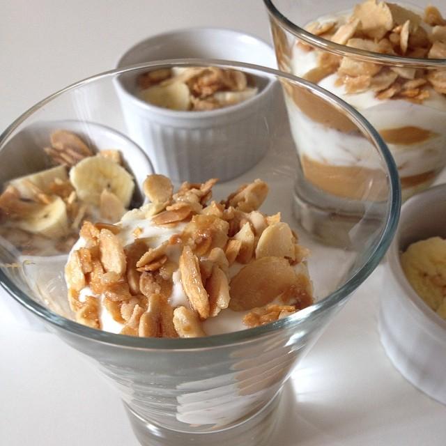 Trifle de Iogurte com Doce de Leite