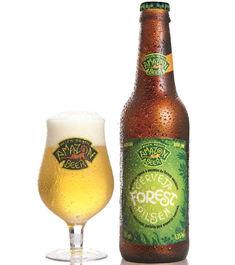 Para ela: Forest Bacuri. Feita no estilo fruit beer, é clara, leve e tem espuma de boa persistência. O aroma frutado é proveniente da maturação com bacuri, fruto amazônico. Perfeita para o paladar feminino. O teor alcoólico é de 3,8%. Premiada com medalha de ouro no I Festival Brasileiro da Cerveja. R$ 10