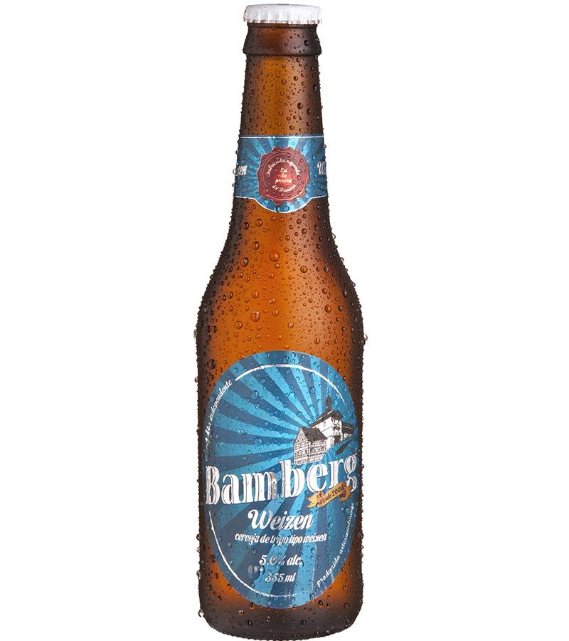 Para ela: Bamberg Weizen. é uma deliciosa cerveja artesanal de trigo feita conforme a Lei de Pureza Alemã de 1516. Não é pasteurizada porque utiliza refermentação na garrafa, apresentando cor turva, característica das tradicionais cervejas de trigo alemãs. É muito refrescante, fácil de beber e perfeita para os dias mais quentes. Teor alcoólico é de 5%. R$ 17.
