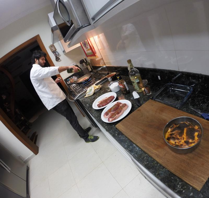 Feijão Mexicano com barbecue e tiras de carne com tempero cajun 6