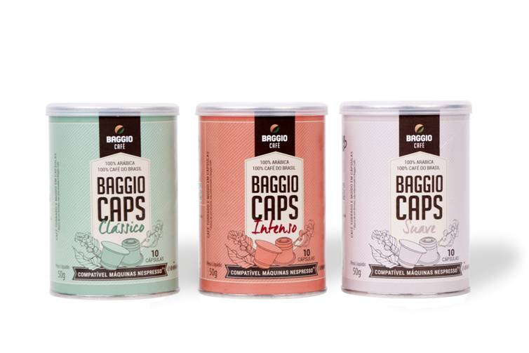 Baggio Café lança cápsulas Compatíveis com Máquinas Nespresso