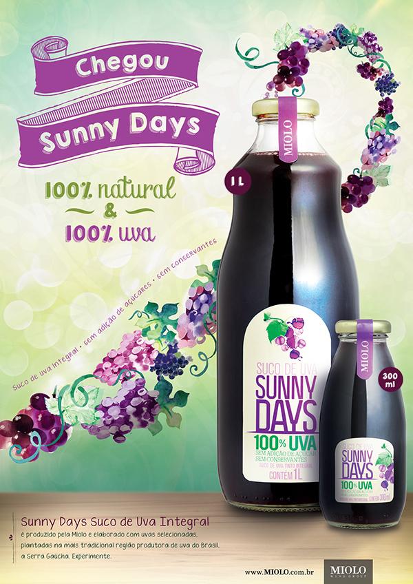 Miolo anuncia o lançamento do Sunny Days, seu primeiro suco de uva integral