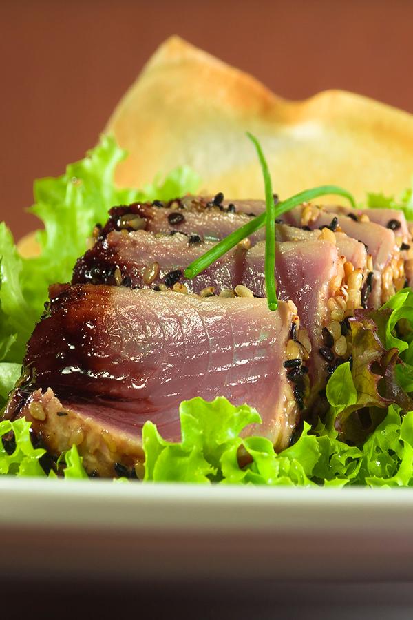 Receita da Salada Del Mare do restaurante Lá no Escritório de Campinas