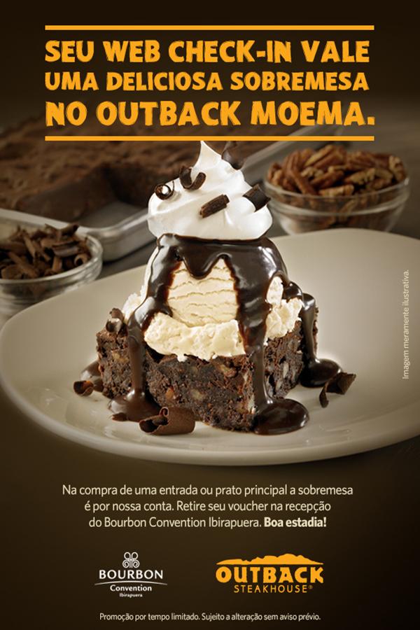 Bourbon Convention Ibirapuera fecha parceria com o Outback Moema