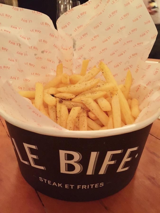 Batata Frita do Le Bife, inaugurado ontem em Sp com Cardápio do Chef Erick Jacquin