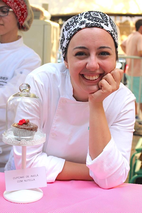 A confeiteira Larissa Leibholz levou cupcakes e cookies para a segunda edição do Comida na Rua. O cupcake de Nutella foi campeão de vendas.