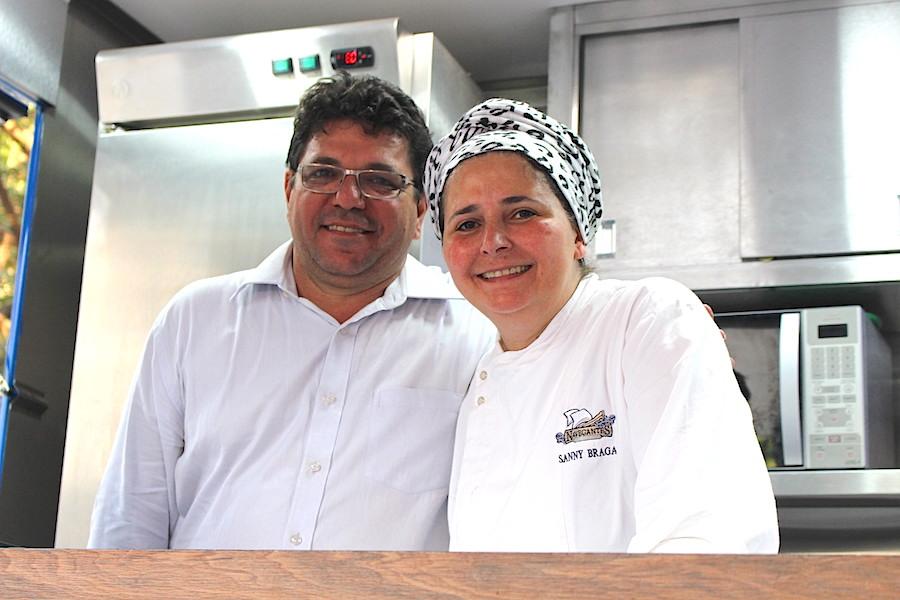 Dalmo e a chef Sanny Braga do Navegantes!!! O risoto de camarão também deu sold out!! Uma delícia!!