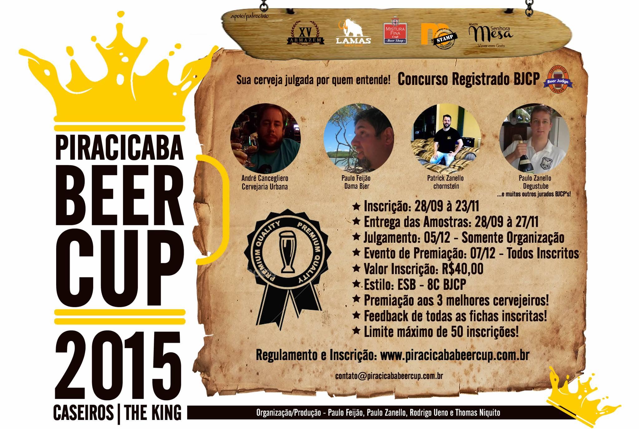 Concurso Piracicaba Beer Cup Abre as Portas para Produção de Cervejas Caseiras