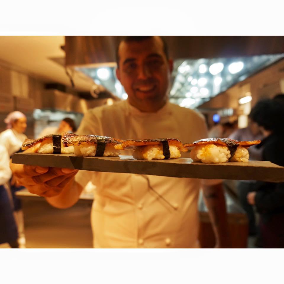 Sushi de Papada na Casa do Porco Bar em Sp. Foto divulgação.