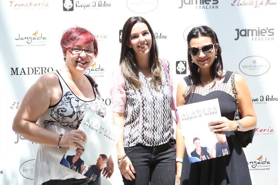 Helga W. Takeno, do blog Meus Favoritos, Patrícia Guimarães da Senhora Mesa e Daniela Fernandes, da revista Alphaville