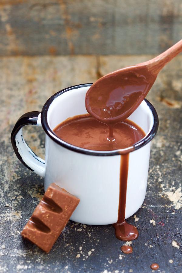 Chocolate Quente de Toblerone