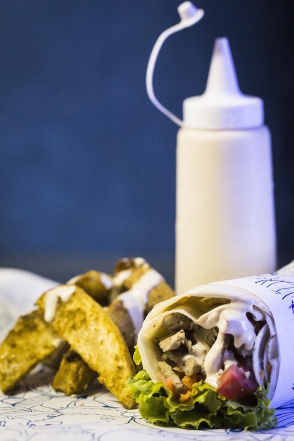 Kebab de pernil pelo trailer Spiro Giro de Campinas.