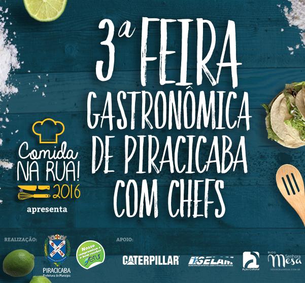 Comida na Rua, Feira Gastronômica de Piracicaba é Neste Domingo
