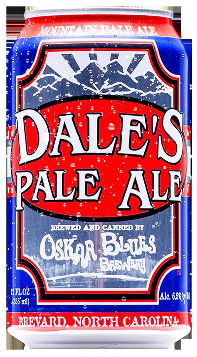 OSKAR BLUES DALE'S PALE ALE Essa foi a primeira lata envasada no porão do Brewpub em Lyons, Colorado. O que esperar dela? Equilibrio entre o malte, lúpulo cítrico e floral que acompanham o seu gole até o final. Estilo: American Pale Ale ABV: 6,5% IBU: 65 Formato: Lata e Chope Rate Beer: 99