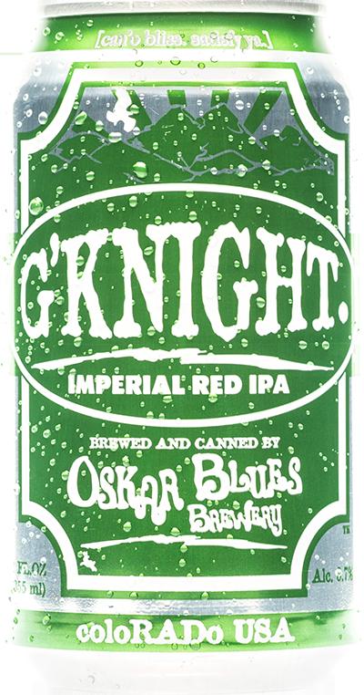 OSKAR BLUES G'KNIGHT  Clássico da cervejaria, produzida em homenagem aos veteranos de guerra nascidos no Colorado. Uma Imperial Red IPA bem equilibrada, com aroma intenso, corpo alto e amargor inesquecível!  Estilo: Imperial Red IPA  ABV: 8,7% IBU: 60 Formato: Lata Rate Beer: 97 - Top 50
