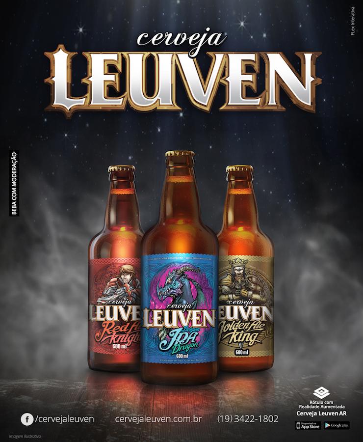 Leuven Cervejaria lança rótulo em realidade aumentada.